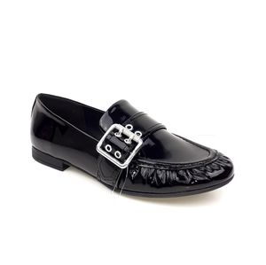 New Ugg Charlotte Patent Leather Buckle Loafers